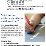 Flyer: lesen - schreiben - lernen im Institut